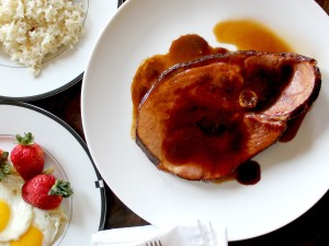 Calamansi-Glazed Ham Steak