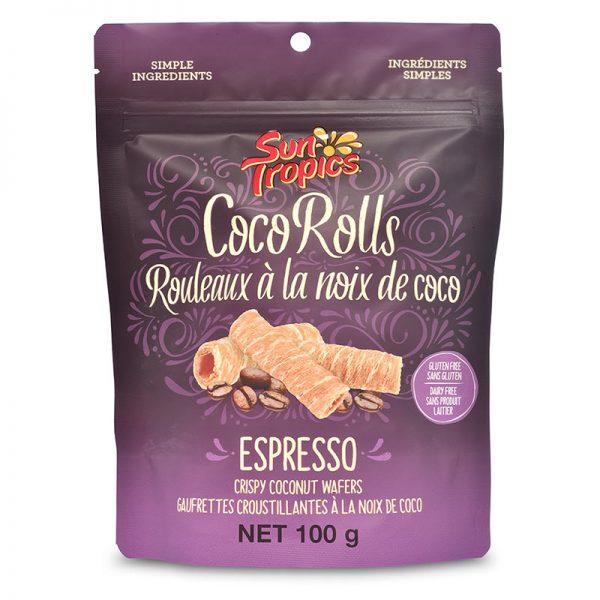 a bag of espresso CocoRolls from Sun Tropics