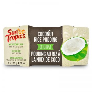 a container of Coconut Rice Pudding from Sun Tropics