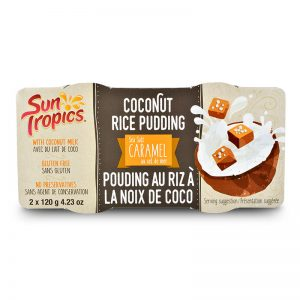 a container of Caramel Coconut Rice Pudding from Sun Tropics