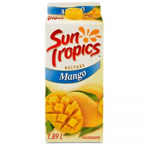 a carton of Sun Tropics Mango Nectar