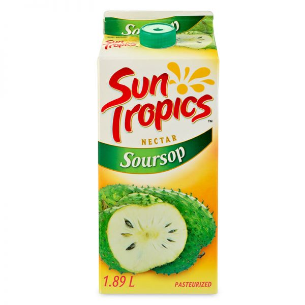 a carton of Sun Tropics Soursop nectar