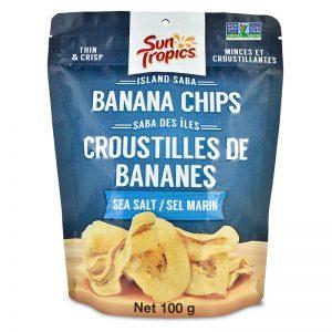 a bag of Sea Slat Banana Chips