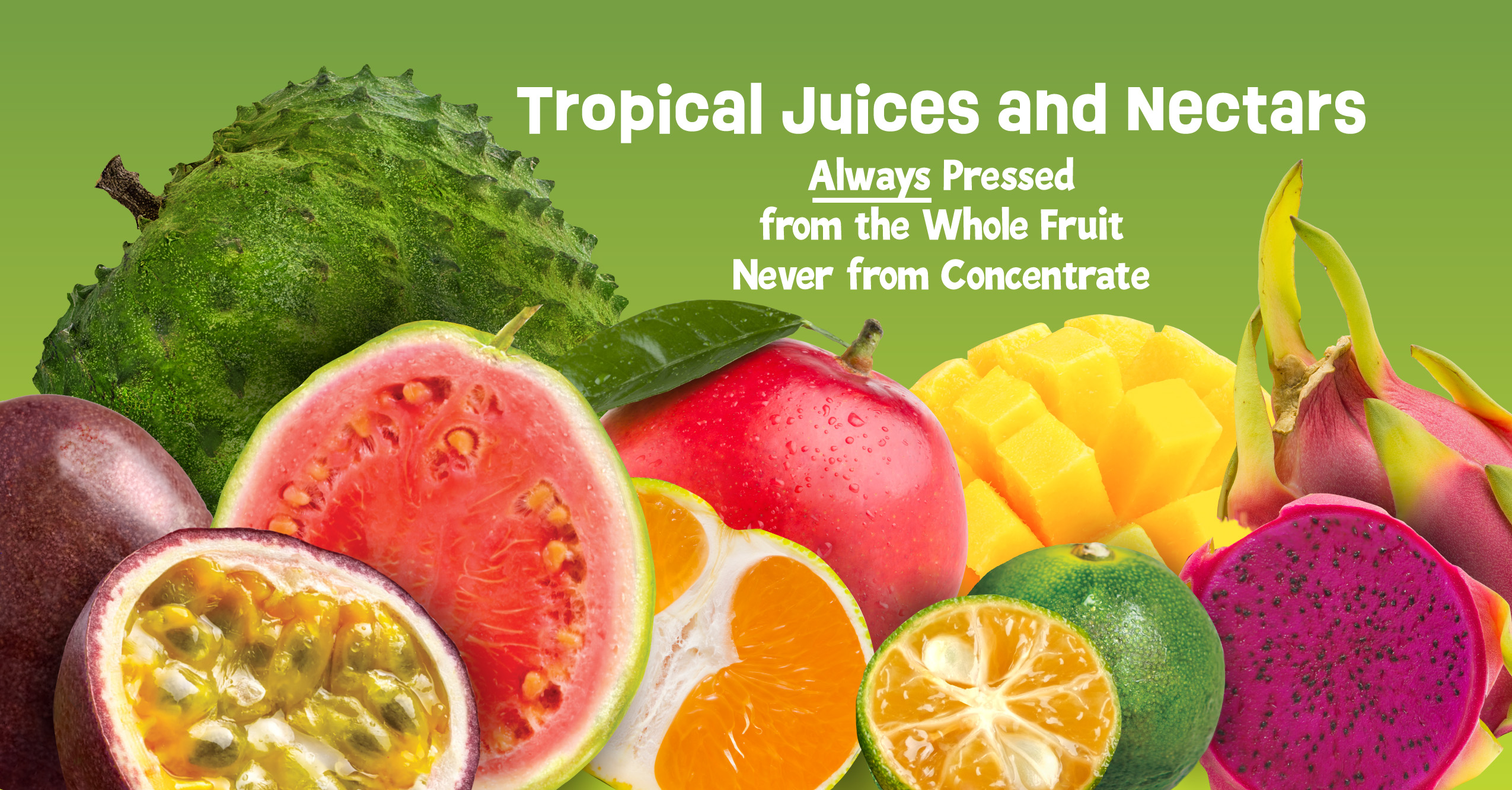 tropical juices and nectars