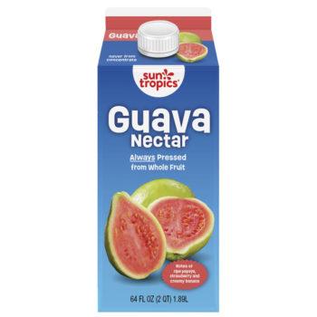 a carton of SunTropics guava nectar