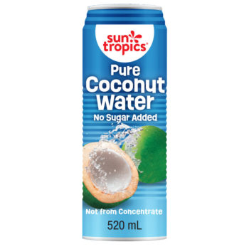 a can of pure coconut water