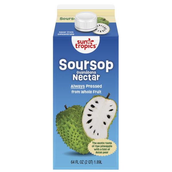 a carton of SunTropics soursop nectar