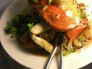 Roasted Crabs with Garlic Calamansi