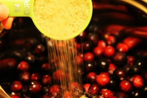 Cran Sauce Add Sugar 300x200 Best. Cranberry Sauce. Ever. (And so easy!)