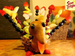 Make Your Own Fruit Turkey!