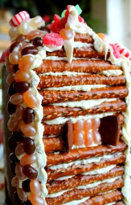 GBHouse Cropped Close Up Chimney Log Cabin Roof 191x300 Juice Carton Gingerbread Houses