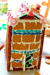 GBHouse Finished Brick Side1 200x300 Juice Carton Gingerbread Houses