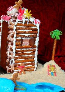 GBHouse Fun Scene Cabin1 214x300 Juice Carton Gingerbread Houses