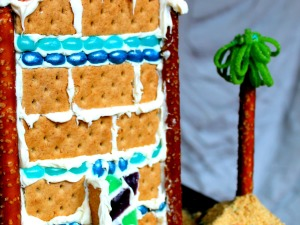 Juice Carton Gingerbread Houses