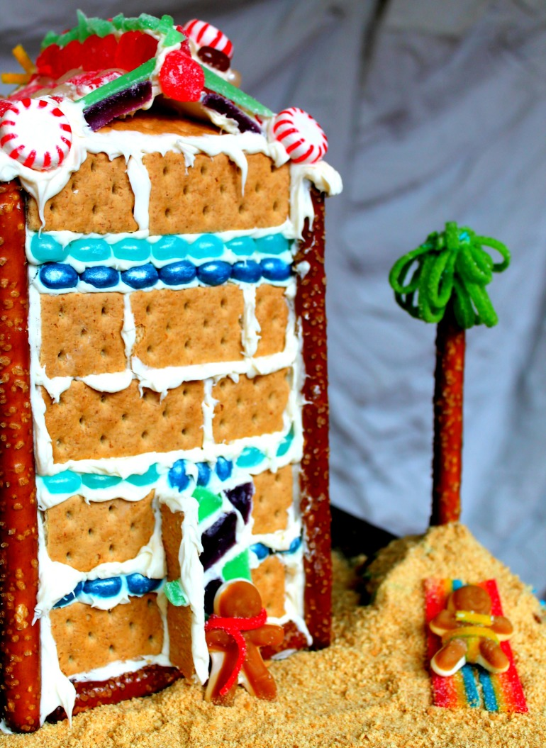 Juice Carton Gingerbread House from Graham Crackers