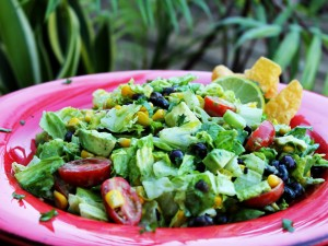 Fiesta Chopped Salad with Calamansi Spiked Avocado Yogurt Dressing