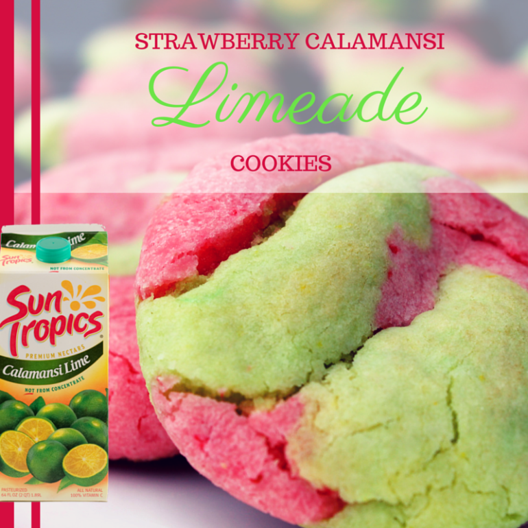 Strawberry Calamansi Limeade Cookies