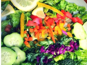 Rainbow Salad with 15 Second Dressing