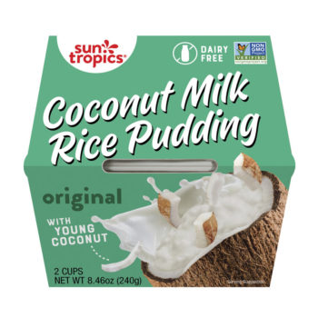 a container of Suntropics Coconut Milk rice Pudding original