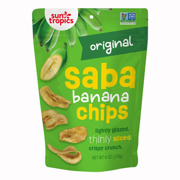 Original Sun Tropics Saba Banana Chips pouch
