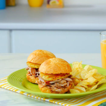 pulled pork sliders as described in this recipe
