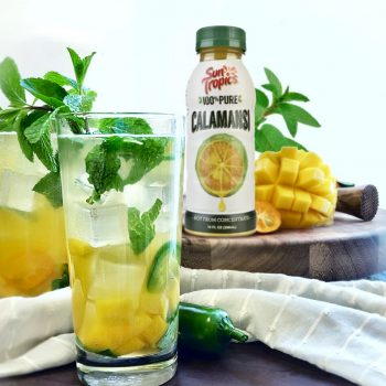 calimangoheato cocktails made from Suntropics calimansi